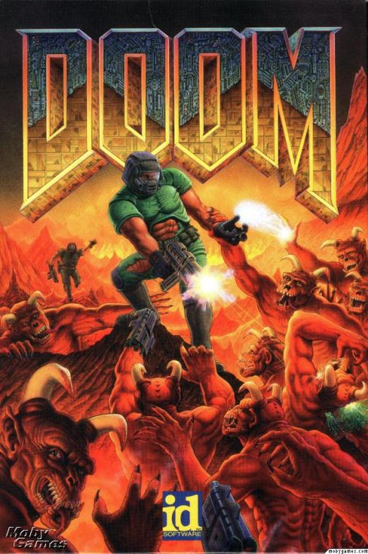 "All I can imagine is that guy in the back being all ""Doom Guy, slow dooooown! I want to kill some demons tooooo!"""