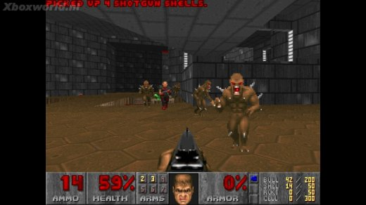Doom, seen here being better than Alien Breed 3D.